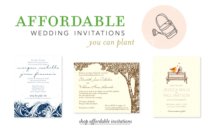 Affordable Wedding Invites: Recycled Paper Wedding Invitations