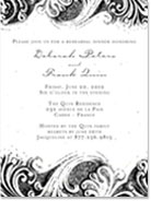 French Swirls Invitation