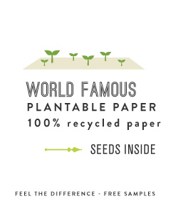 ABOUT THE SEEDED PAPER