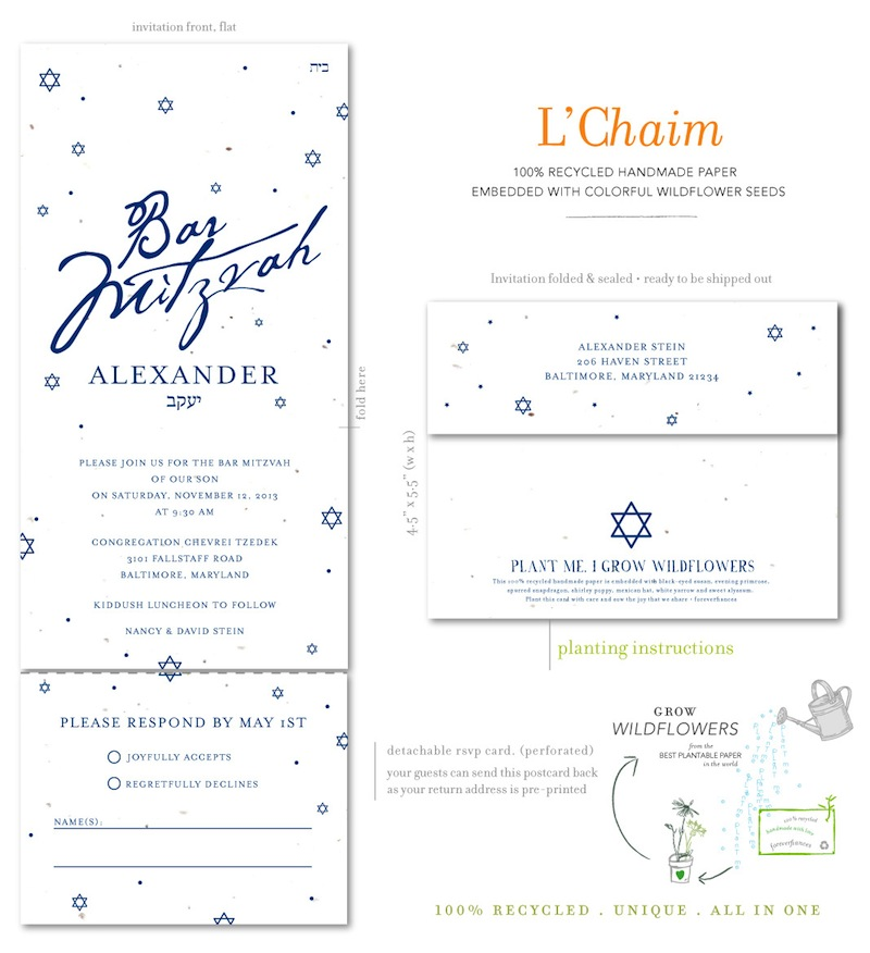 Bar Mitzvah all in one invitations
