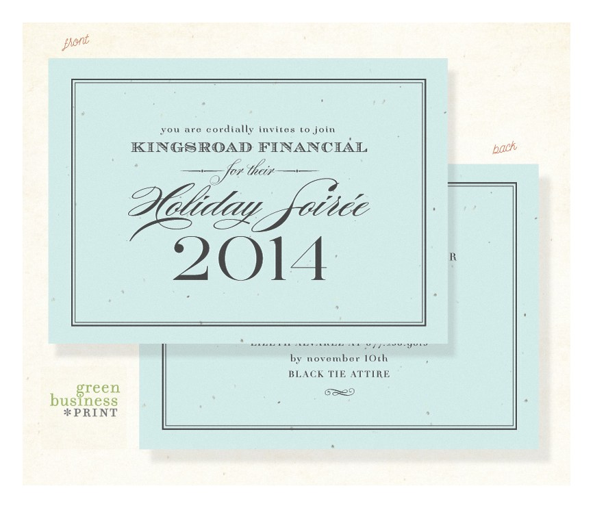 Plantable Gala Invitations Formal