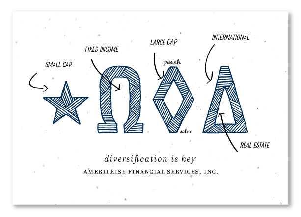 financial agent thank you cards diversification