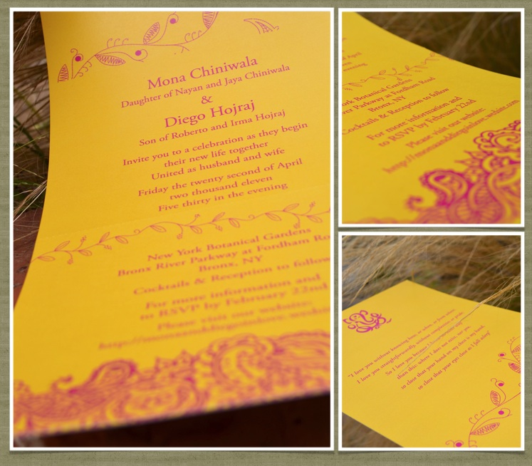 Bombay wedding invitations Indian Curry