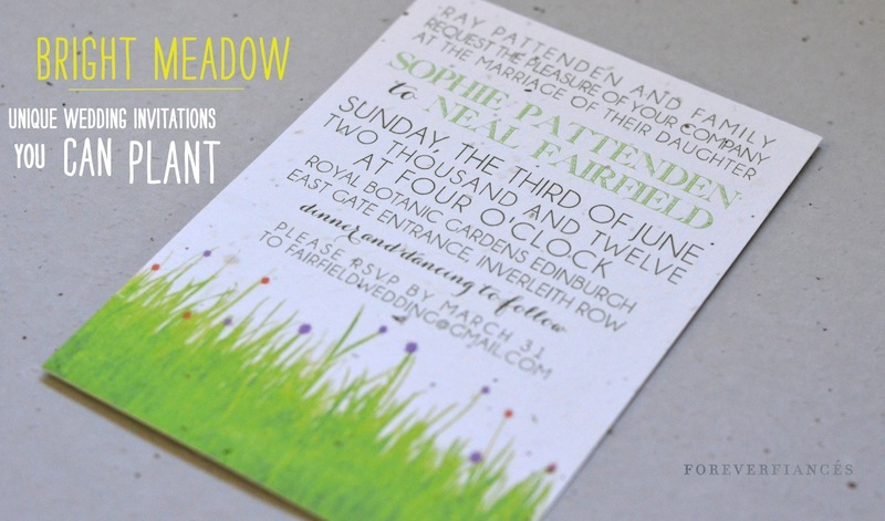 Bright Wedding Invitations: Bright Meadow Wedding Stationery (on 100% Recycled Paper