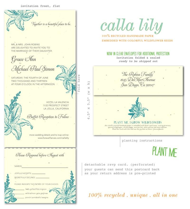 Calla Lily Wedding Invitations