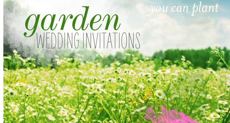 Explore our delicate and unique collection of garden wedding invitations