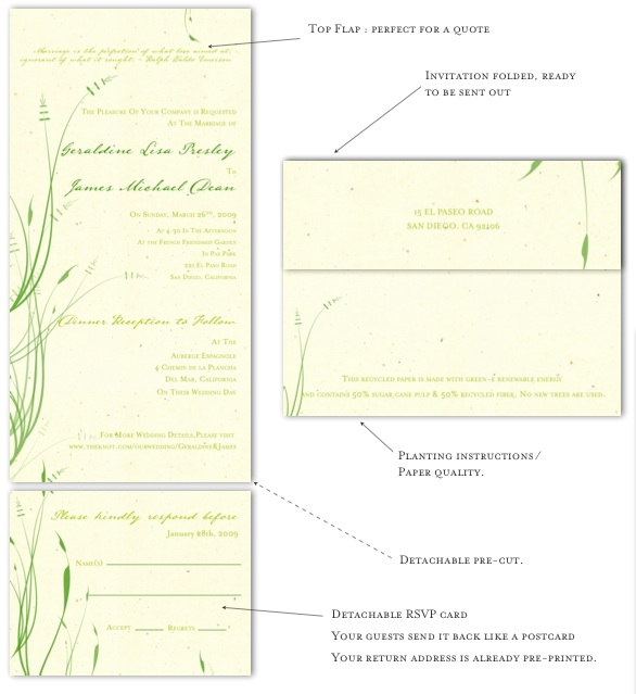 Recycled Paper Wedding Invitations: Recycled Paper Wedding Invitations