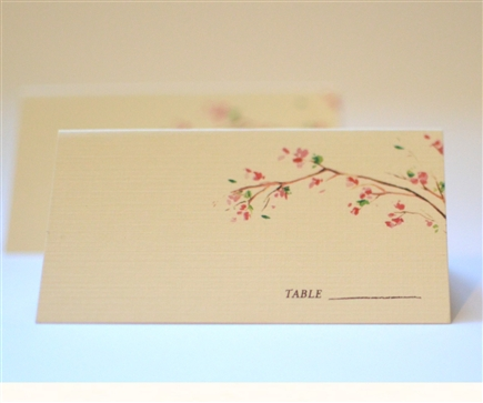 Golden Blooms Place Cards