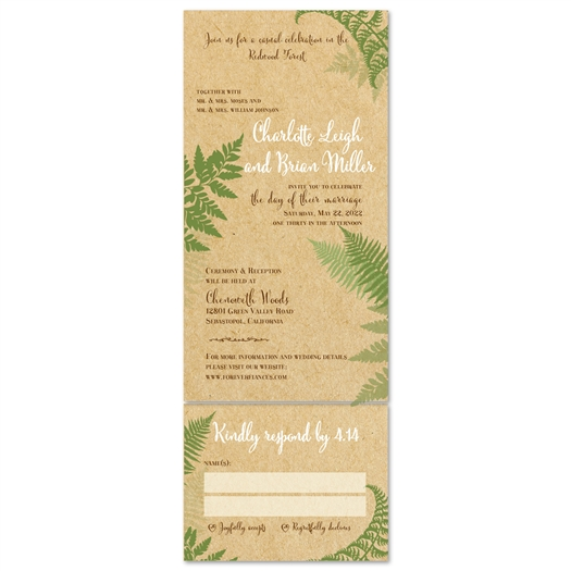 Recycled Wedding Invitations: Green Wedding Invitations On 100% Recycled Paper