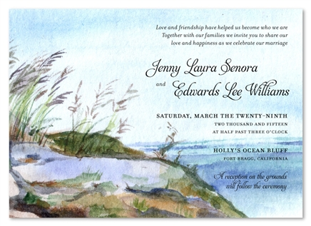 Nantucket wedding invitations on 100 recycled paper nantucket island stopboris Choice Image