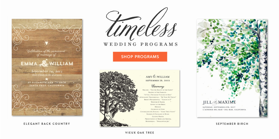 Wedding Programs from ForeverFiances
