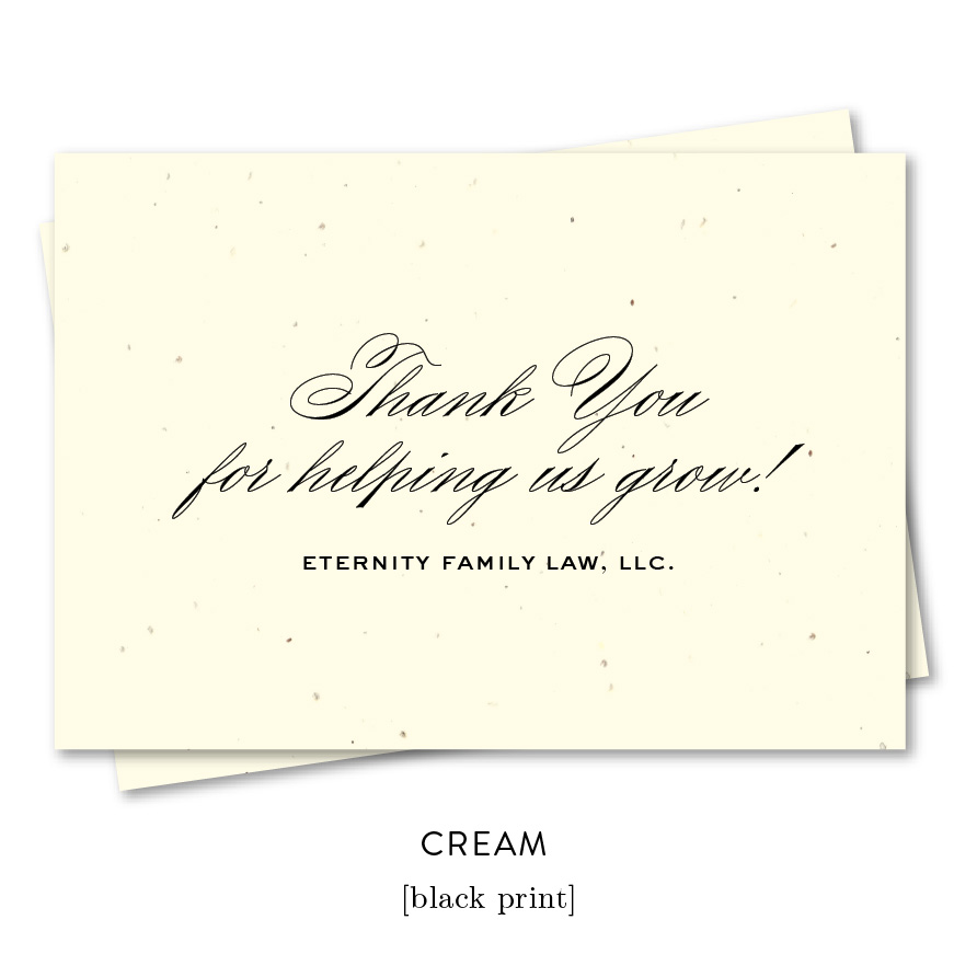 elegant script business thank you notes