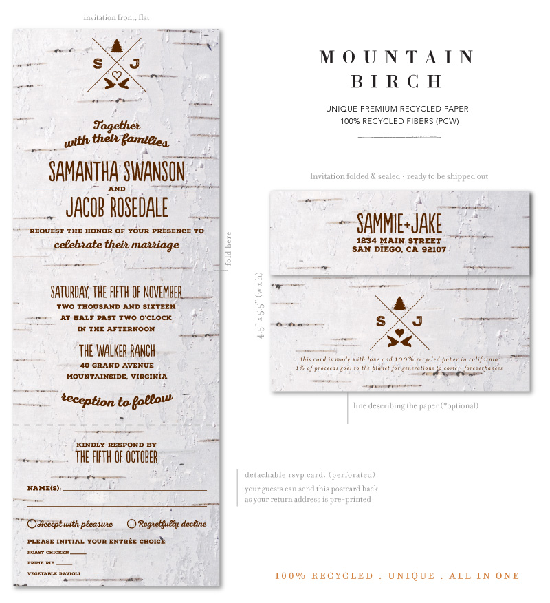 Mountain Birch Wedding Invitations