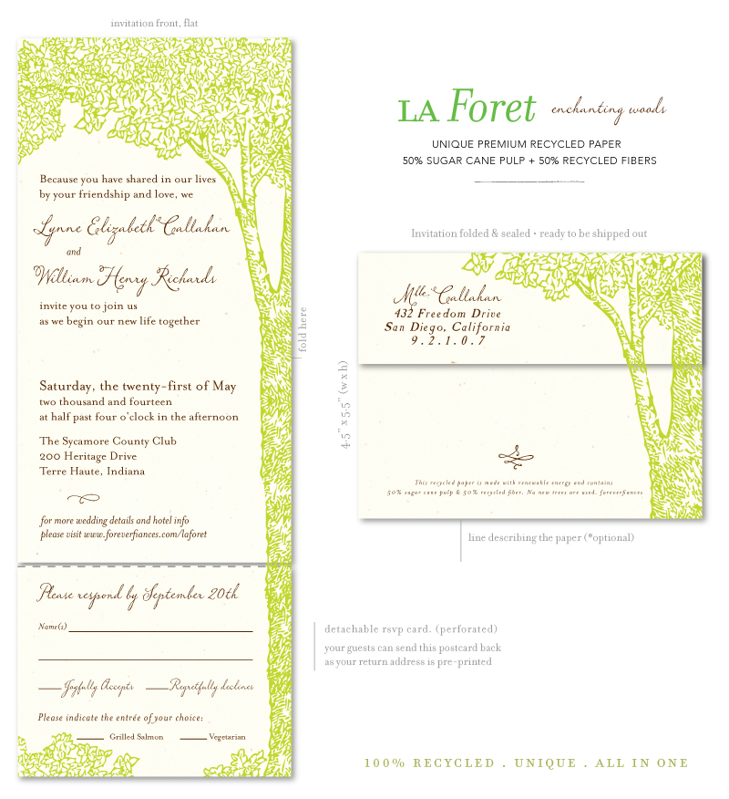 tree wedding invitaitons