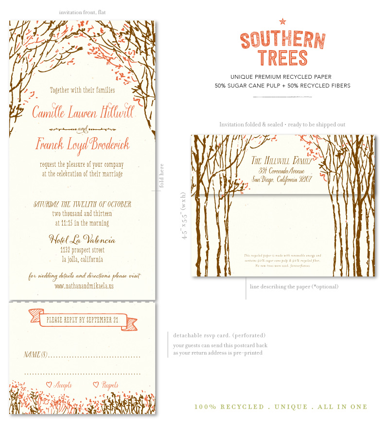Southern Trees Wedding Invitations