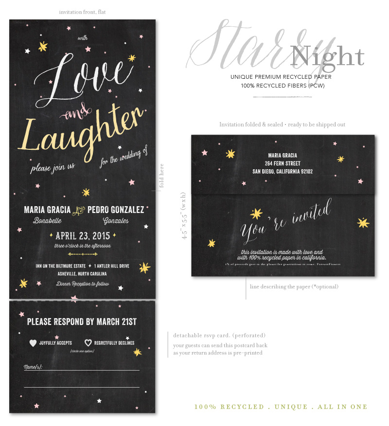 Seal and Send Wedding Invitations - Starry Night by ForeverFiances ...