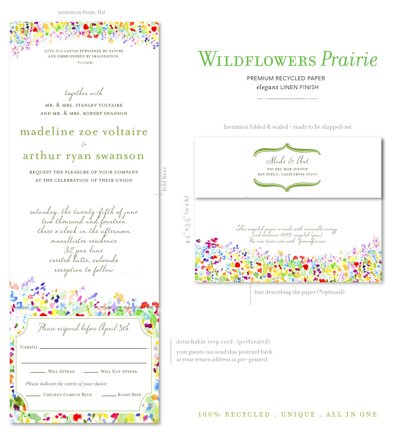Wildflowers Wedding Invitations