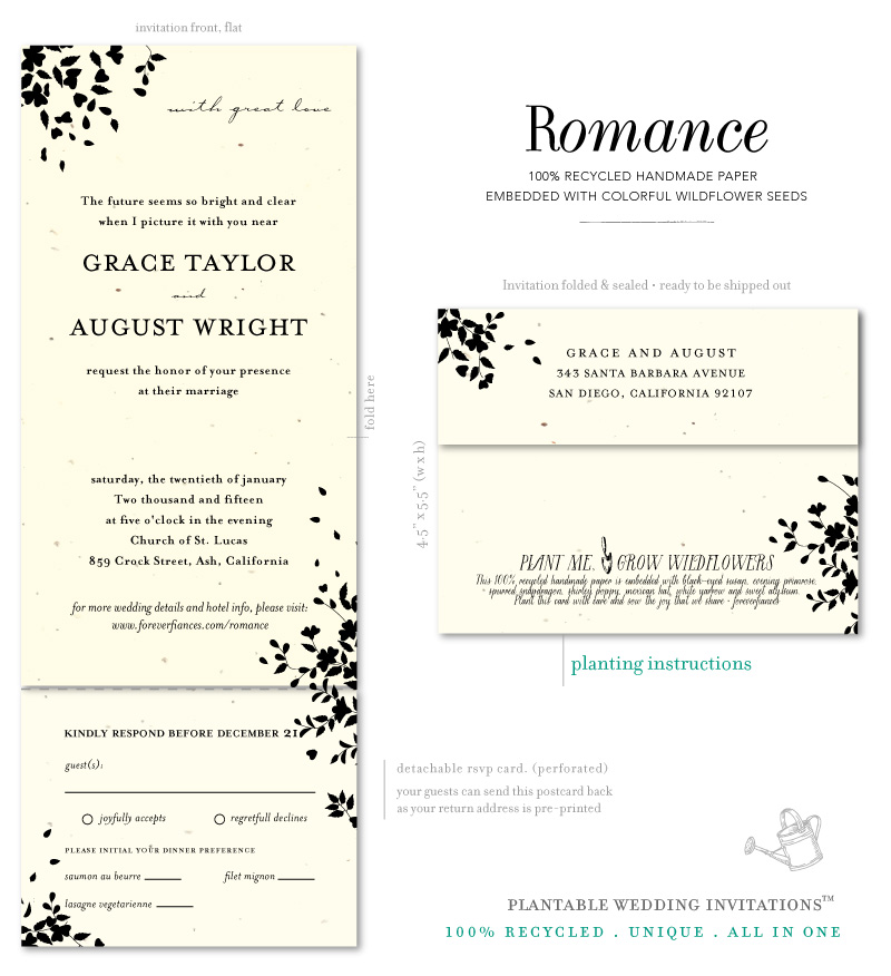 Garden Romance Wedding Invitations