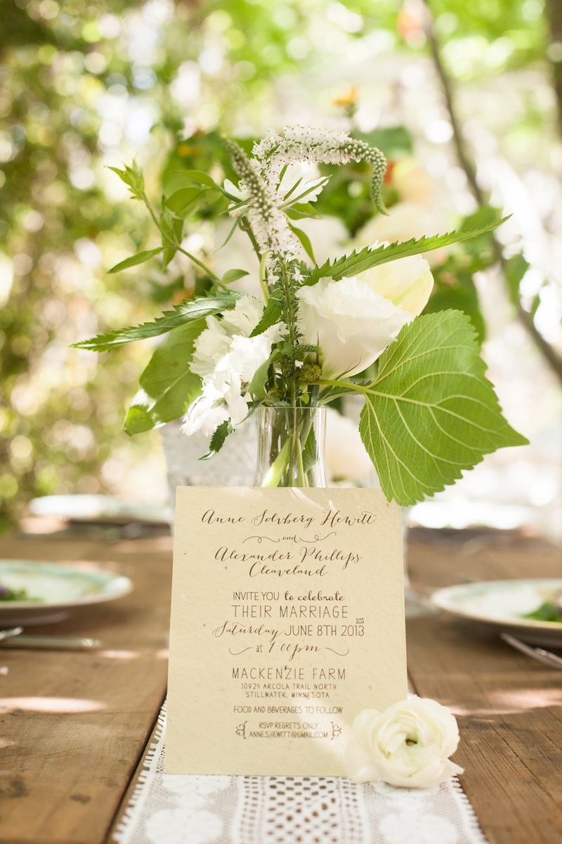 Destination wedding invitations Organic