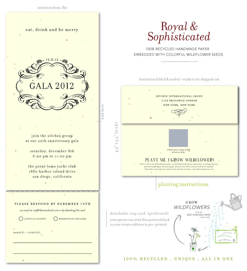 send and sealed gala business Invitations