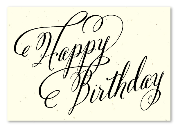 Elegant Birthday cards on seeded paper Beginnings by Green – Sophisticated Birthday Cards