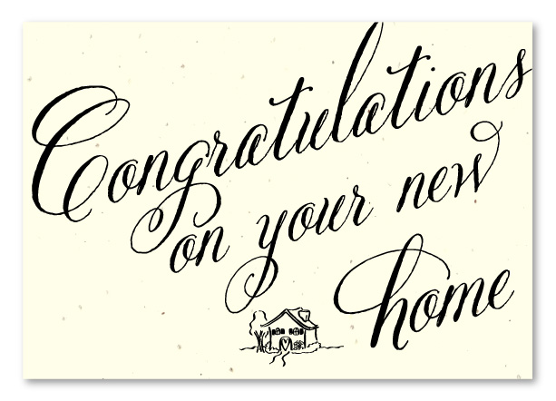 Seeded Paper congratulations new home cards