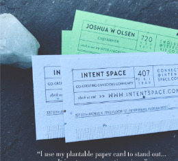 Seeded Paper business cards