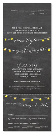 Chalkboard Wedding Invitations Romantic