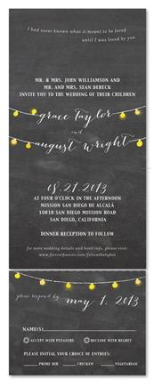 Chalkboard Wedding Invitations Romantic