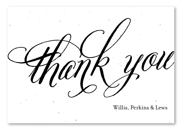 Plantable Thank you cards on seeded paper Beginnings by Green – Business Thank You Notes