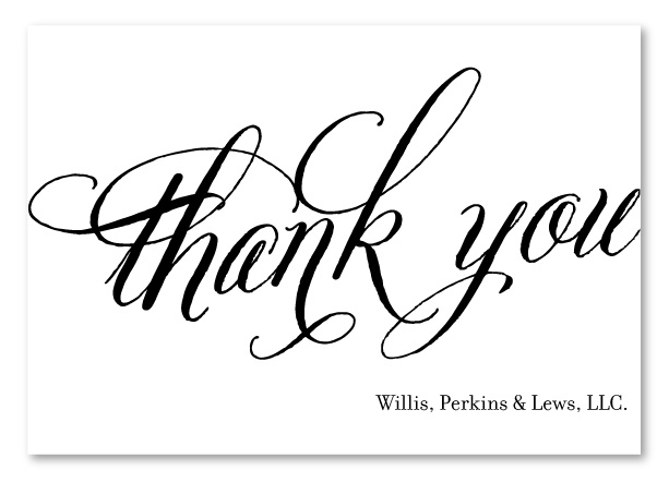 eco-friendy classic business thank you cards