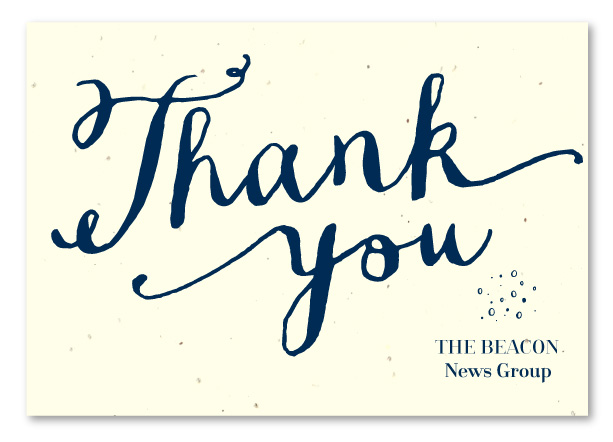 eco-friendy hand-written business thank you cards