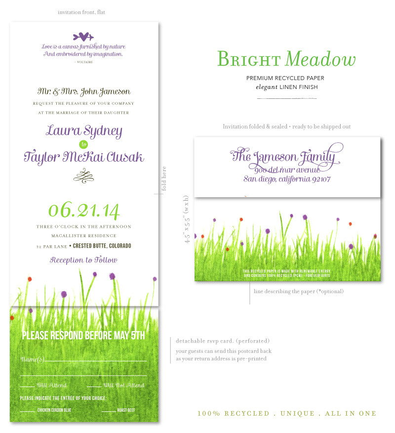 Wildflowers Meadow Wedding Invitations