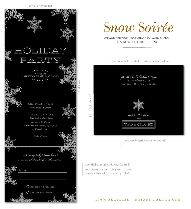 Send and Sealed holiday party invitations