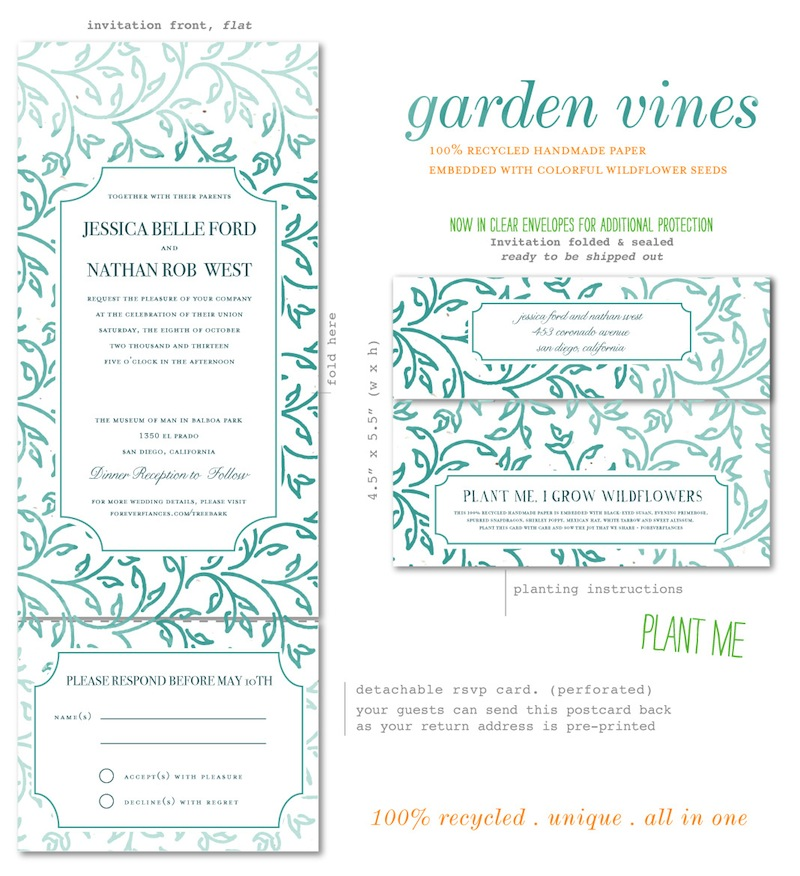 Garden Vines Wedding Invitations