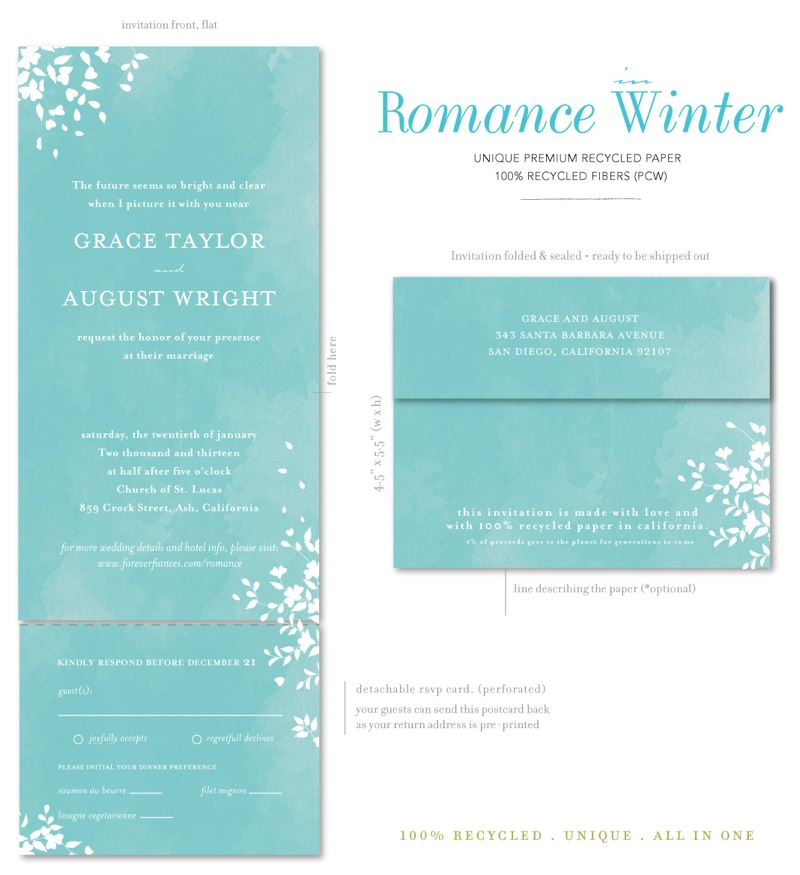 Seal and Send Wedding Invitations - Romance (winter wonderland) by ...