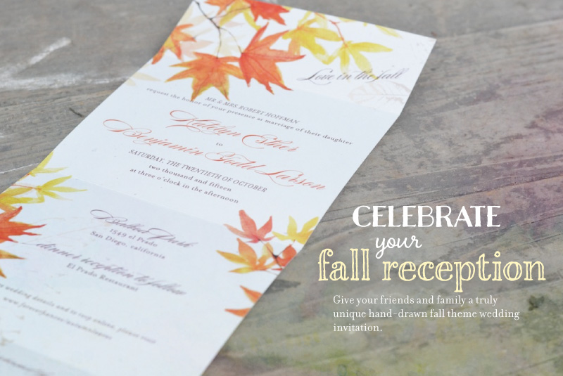 Fall Wedding Invitations Made with Plantable Seeded Paper by