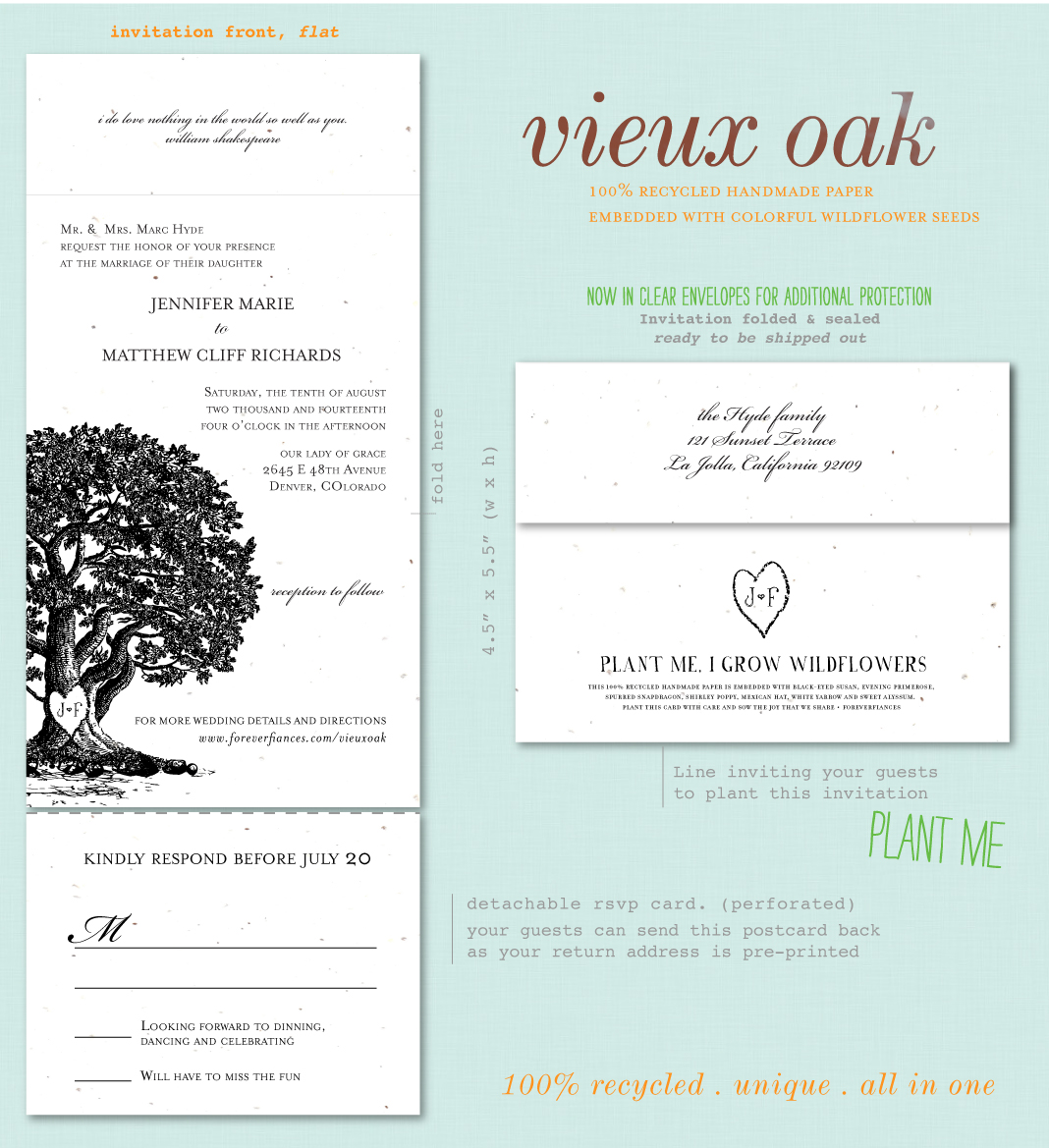 Old Oak Tree Wedding Invitations by ForeverFiances