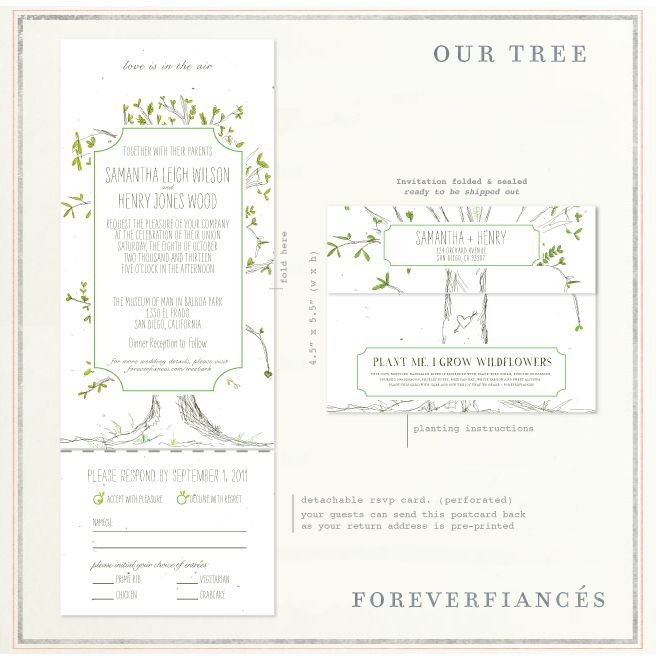 All In One invitations (Our Tree)