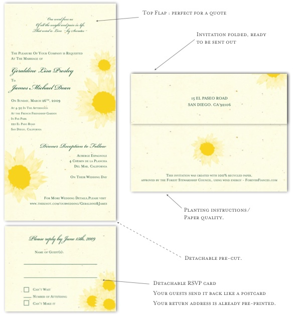 Natural wedding invitaitons