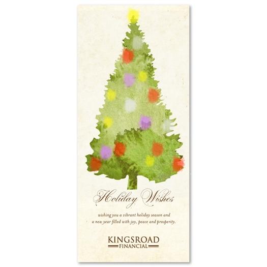 Green Tree Greeting Card PRINT