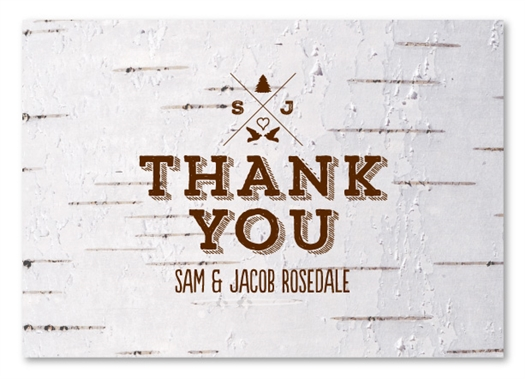Birch Thank You Cards